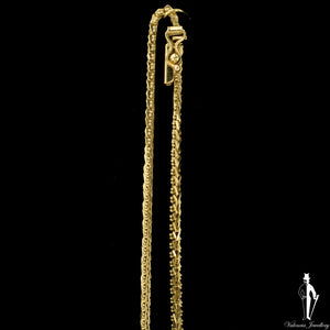 18 Inch 14K Yellow Gold Custom Fancy Link Chain