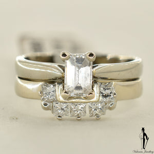 14K White Gold VVS Diamond (0.56 CT.) Solitaire Engagement Ring