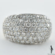 14K White Gold VS-SI Diamond (1.20 CT.) Dome Style Bead Set Ring
