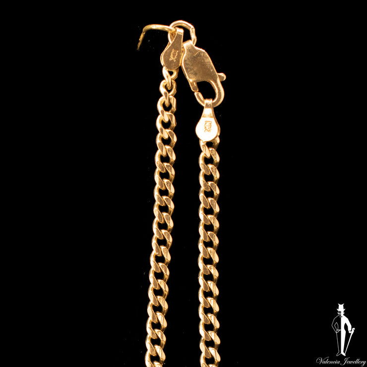 21 Inch 10K Yellow Gold Curb Link Chain