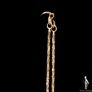 22 Inch 10K Yellow Gold Fancy Link Chain