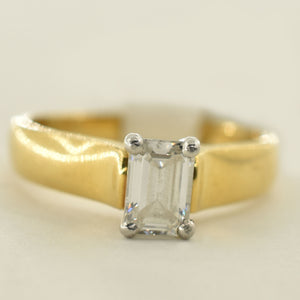 18K Yellow Gold VS1 Diamond (0.59 CT.) Solitaire Engagement Ring
