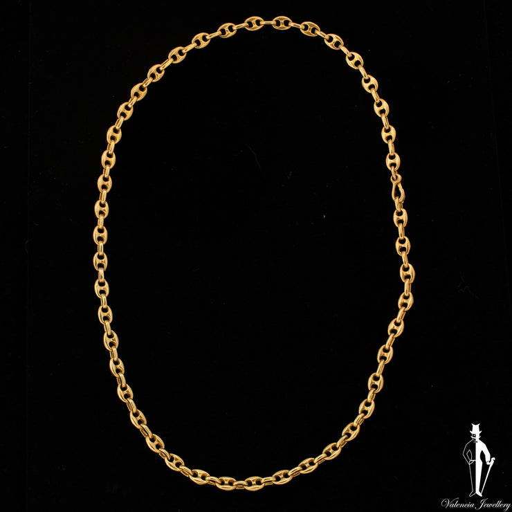 "20.5"" 18K Yellow Gold Gucci Link Chain"