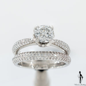 1.90 CT (SI) Brillian Cut Diamond Wedding Ring set in Platinum