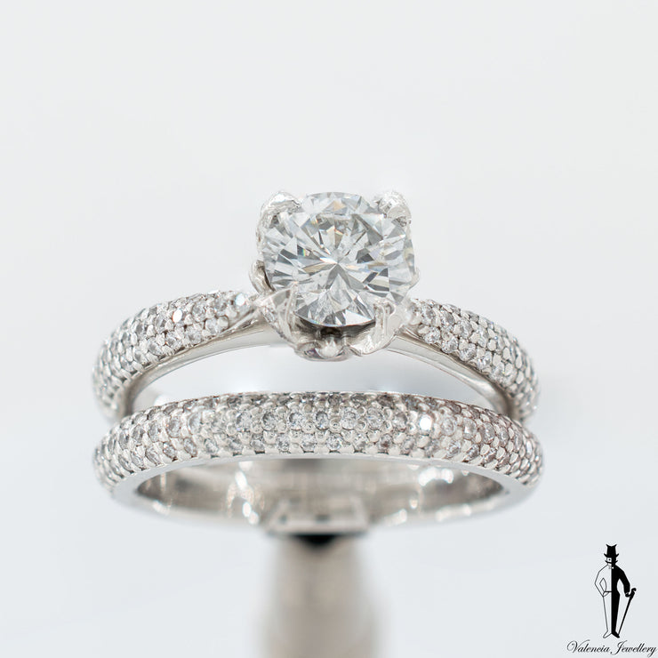 1.90 CT (SI) Brilliant Cut Diamond Wedding Ring set in Platinum