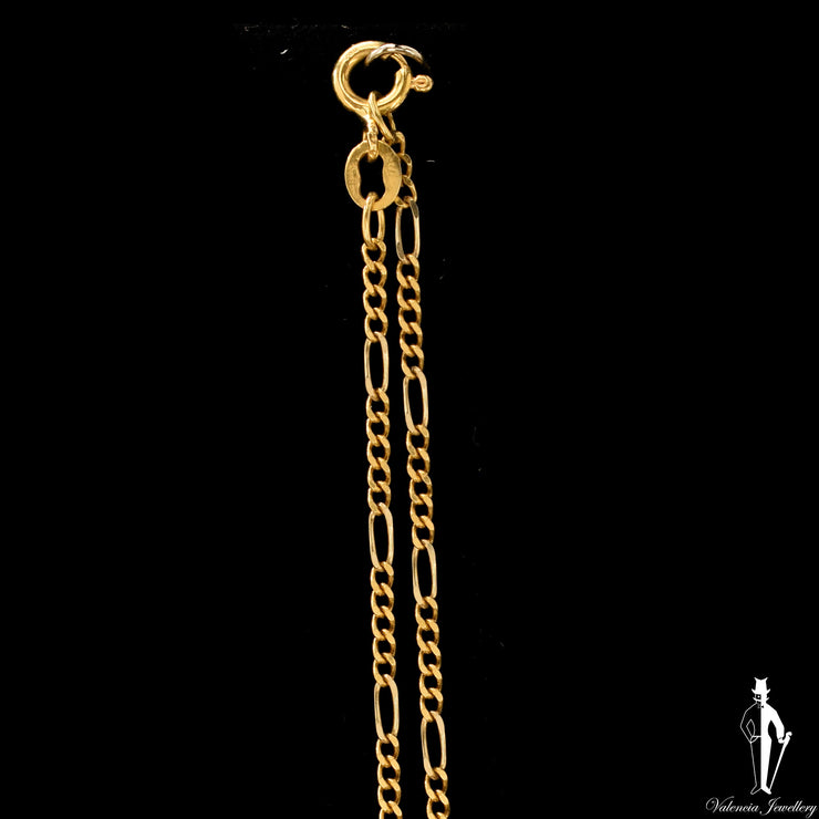 21 Inch 18K Yellow Gold Figaro Link Chain