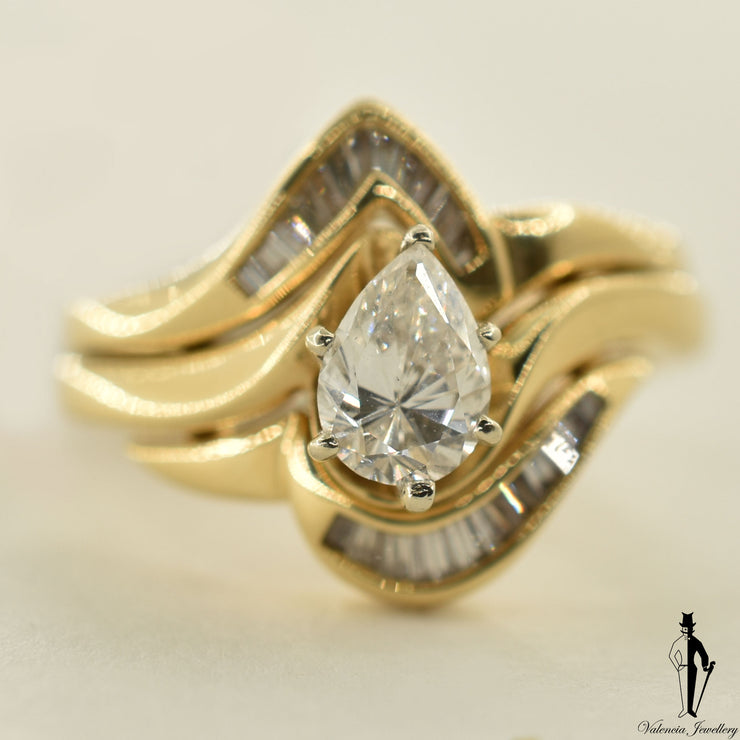 14K Yellow Gold VS2 Diamond (0.59 CT.) Solitaire Engagement Ring