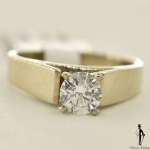 14K White Gold VS2 Diamond (0.70 CT.) Solitaire Engagement Ring