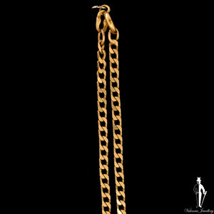 22 Inch 14K Yellow Gold Curb Link Chain