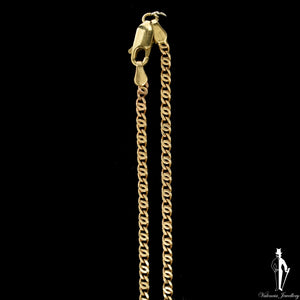 22 Inch 14K Yellow Gold Custom Anchor Link Chain