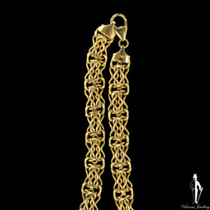 16 Inch 14K Yellow Gold Fancy Link Chain