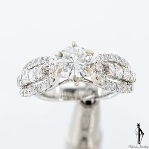 1.24 CT. (SI-I1) Diamond Engagement Ring in 14K White Gold