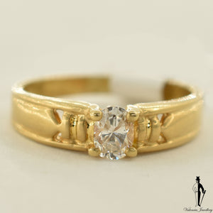 18K Yellow Gold I1 Diamond (0.31 CT.) Solitaire Engagement Ring