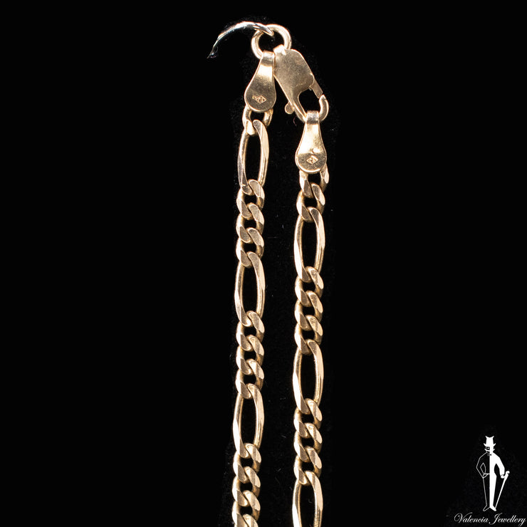 22 Inch 10K Yellow Gold Figaro Link Chain