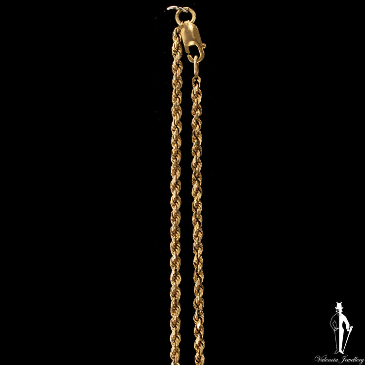 23 Inch 10K Yellow Gold Rope Chain