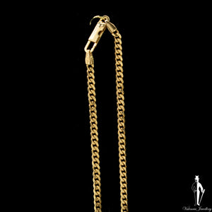 18 Inch 14K Yellow Gold Curb Link Chain