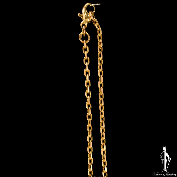 25 Inch 14K Yellow Gold Cable Link Chain