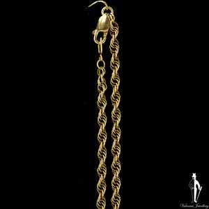18 Inch 14K Yellow Gold Ropa Link Chain