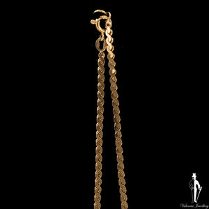 18 Inch 10K Yellow Gold Serpentine Link Chain