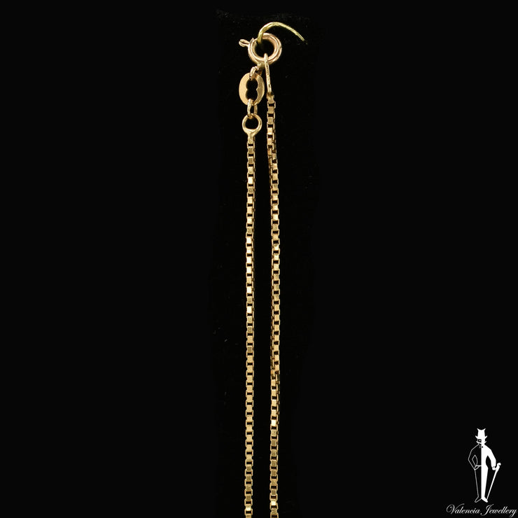 19 Inch 14K Yellow Gold Box Link Chain
