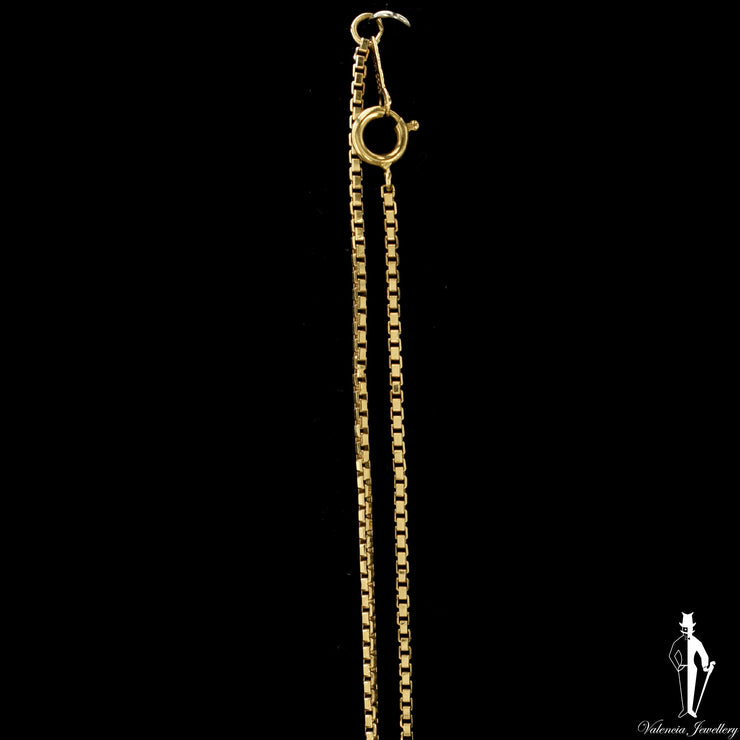 23 Inch 14K Yellow Gold Box Link Chain