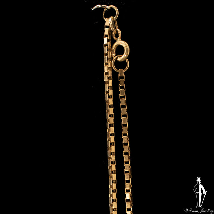 21 Inch 10K Yellow Gold Box Link Chain