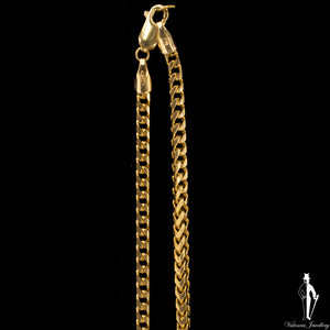 29 Inch 10K Yellow Gold Franco Link Chain