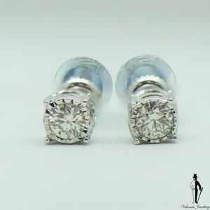 0.55 CT. (I1) Diamond Earrings in 10K White Gold - Valencia Jewellery