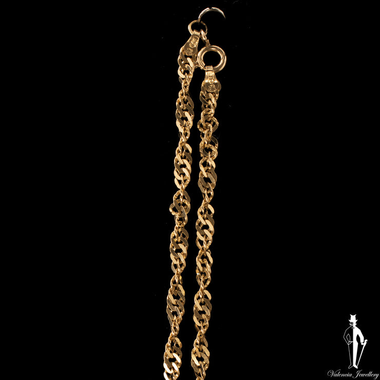 24 Inch 10K Yellow Gold Singapore Rope Chain