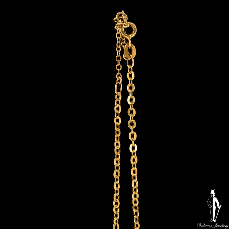 26 Inch 14K Yellow Gold Cable Link Chain