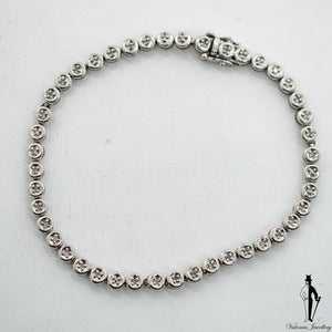 0.55 CT. (SI2-I1) Diamond Ladies Bracelet in 10K White Gold