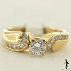 14K Yellow Gold I1 Diamond (0.41 CT.) Channel Setting Engagement Ring