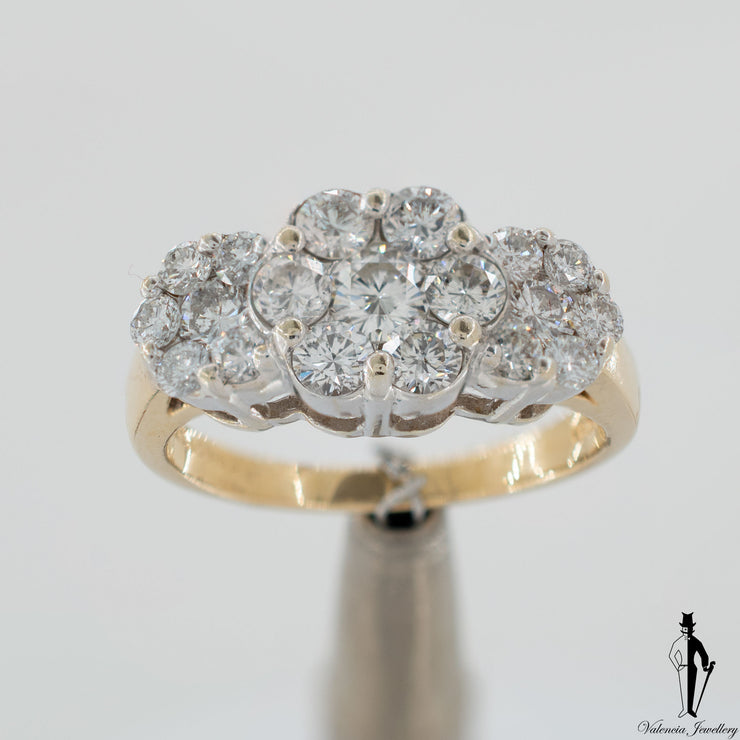 1.50 CT. (SI1-I1) Diamond Ring in 14K Yellow and White Gold