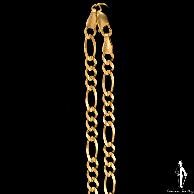 22 Inch 14K Yellow Gold Figaro Link Chain