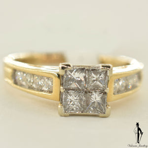 14K Yellow Gold SI-I Diamond (1.40 CT.) Channel Setting Engagement Ring