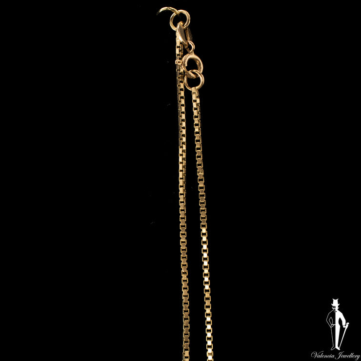 28 Inch 10K Yellow Gold Box Link Chain