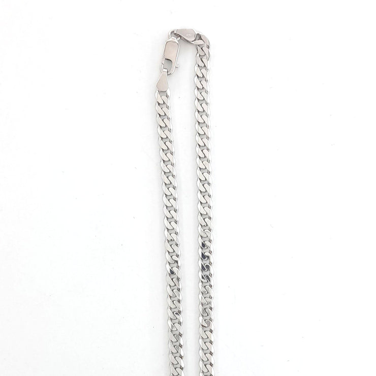 20 Inch 925 Sterling Silver Curb Link Chain