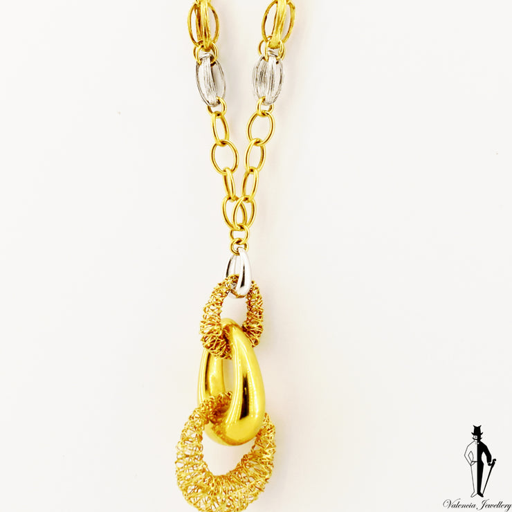 19.5 inch Fancy Style Necklace in 18k Yellow Gold
