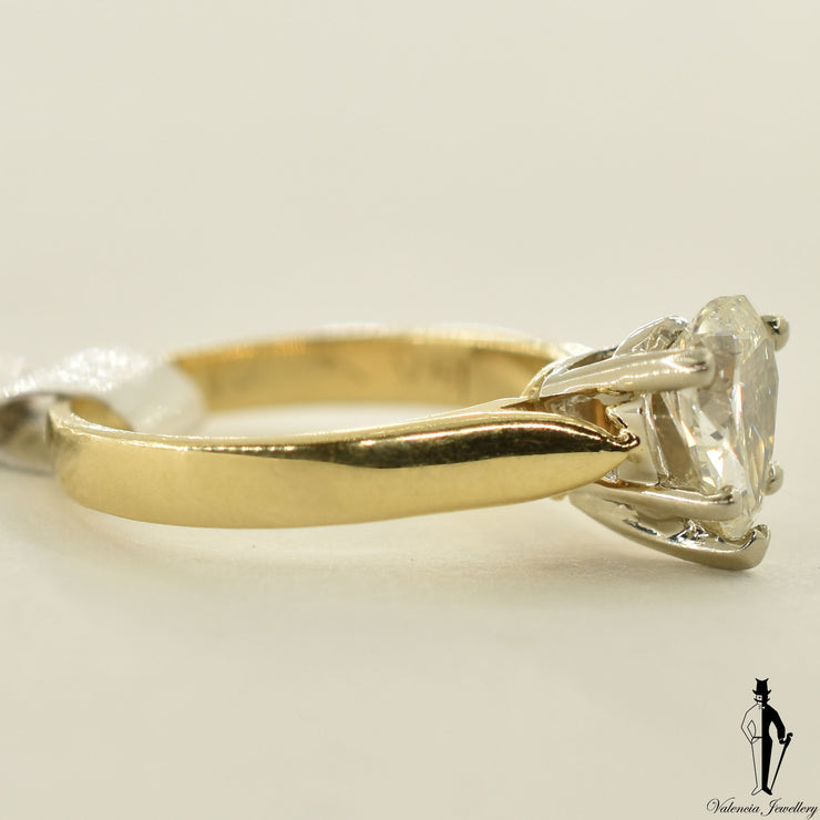 14K Yellow Gold SI2 Diamond (1.0 CT.) Solitaire Engagement Ring