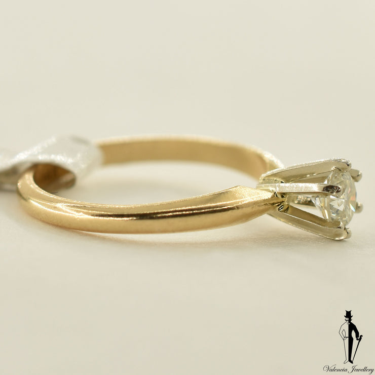 14K Yellow Gold SI2 Diamond (0.40 CT.) Solitaire Engagement Ring