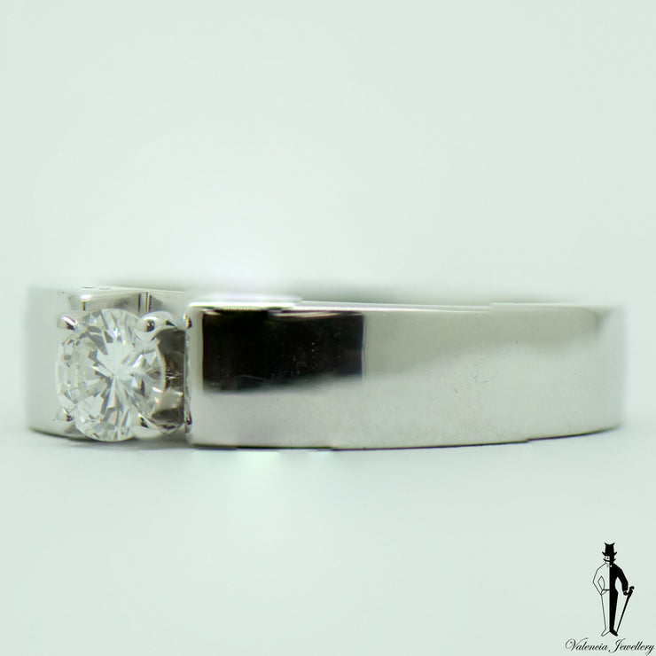 0.45 CT. (SI2) Diamond Solitaire Ladies Ring in 18k White Gold