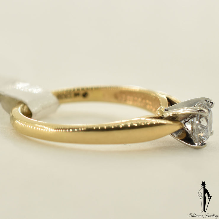 14K Yellow Gold I1 Diamond (0.63 CT.) Solitaire Engagement Ring