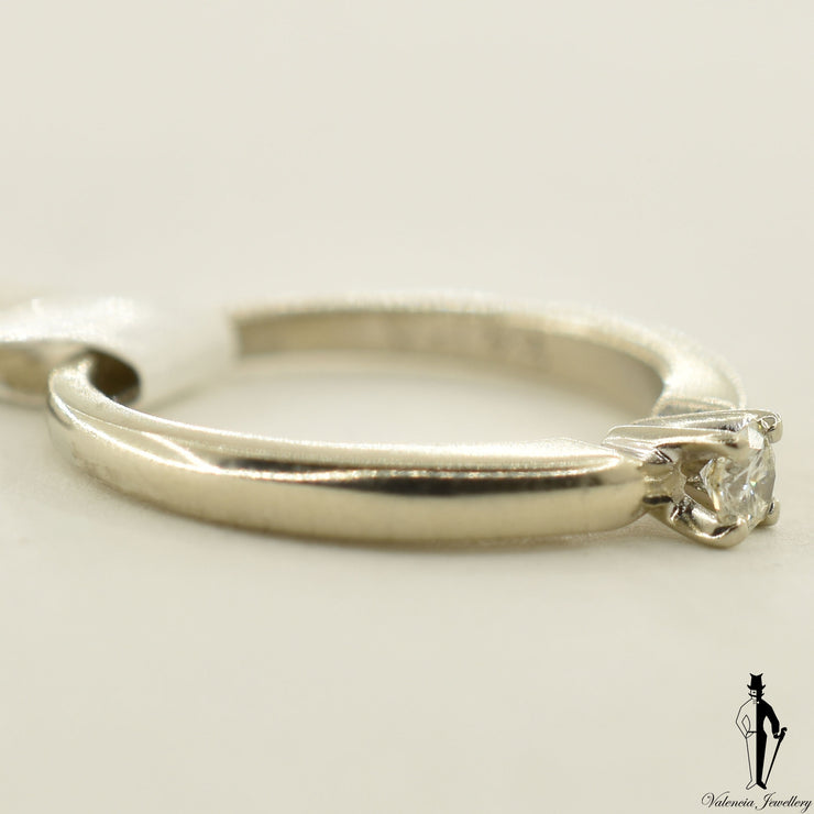 14K White Gold I1 Diamond (0.25 CT.) Solitaire Engagement Ring