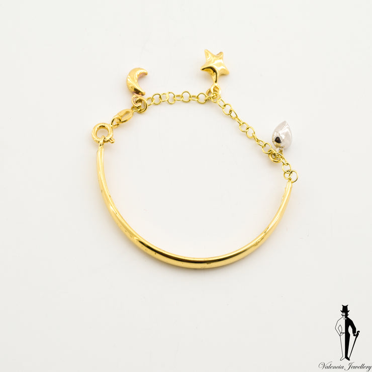 4 Inch Baby Bracelet in 18 Yellow Gold