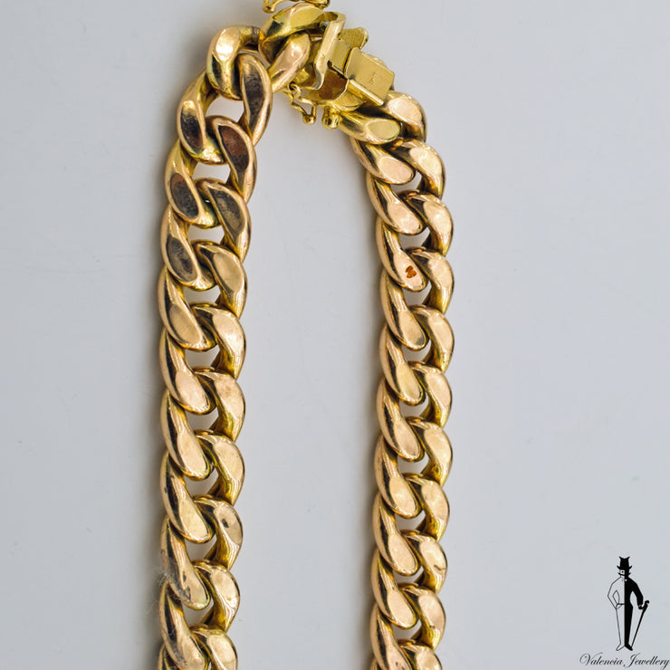 30.5 Inch Curb Link Chain in 10k Yellow Gold