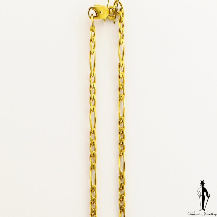 18 inch 18K Yellow Gold Figaro Link Chain