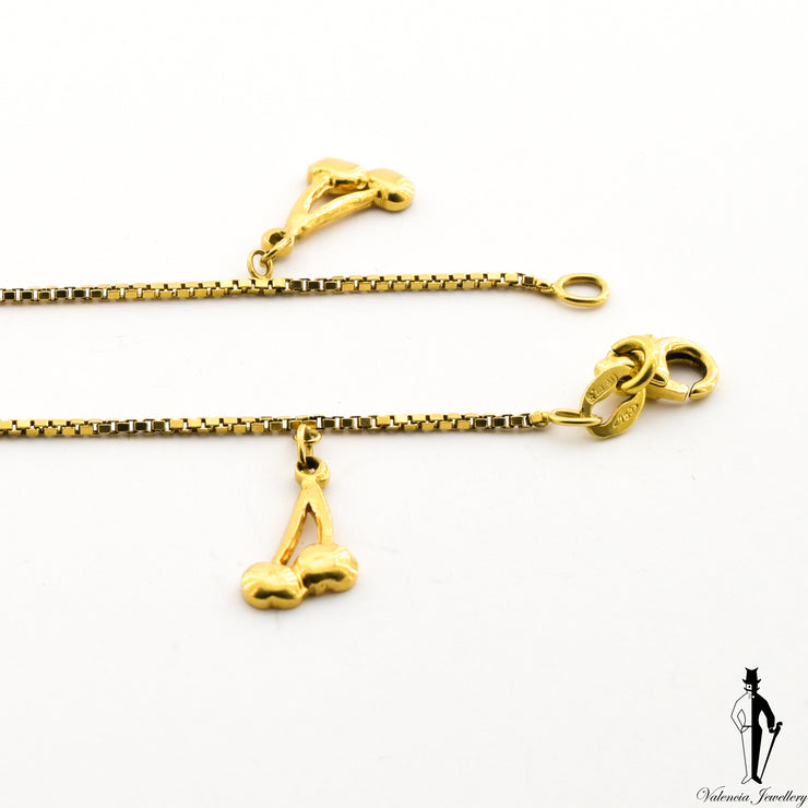9.5 Inch Box-Link Bracelet  in 18 Yellow Gold