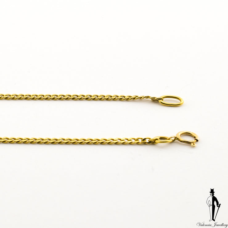 8 Inch Curb-Link Bracelet in 18 Yellow Gold
