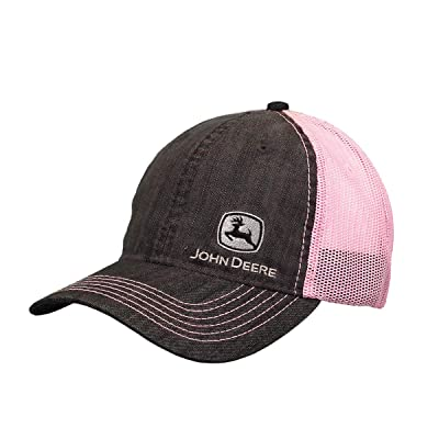 John Deere Ladies' Pink Chambray Mesh Hat