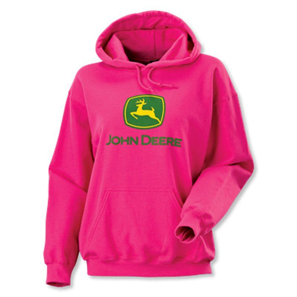 John Deere Womens fuchsia logo fleece